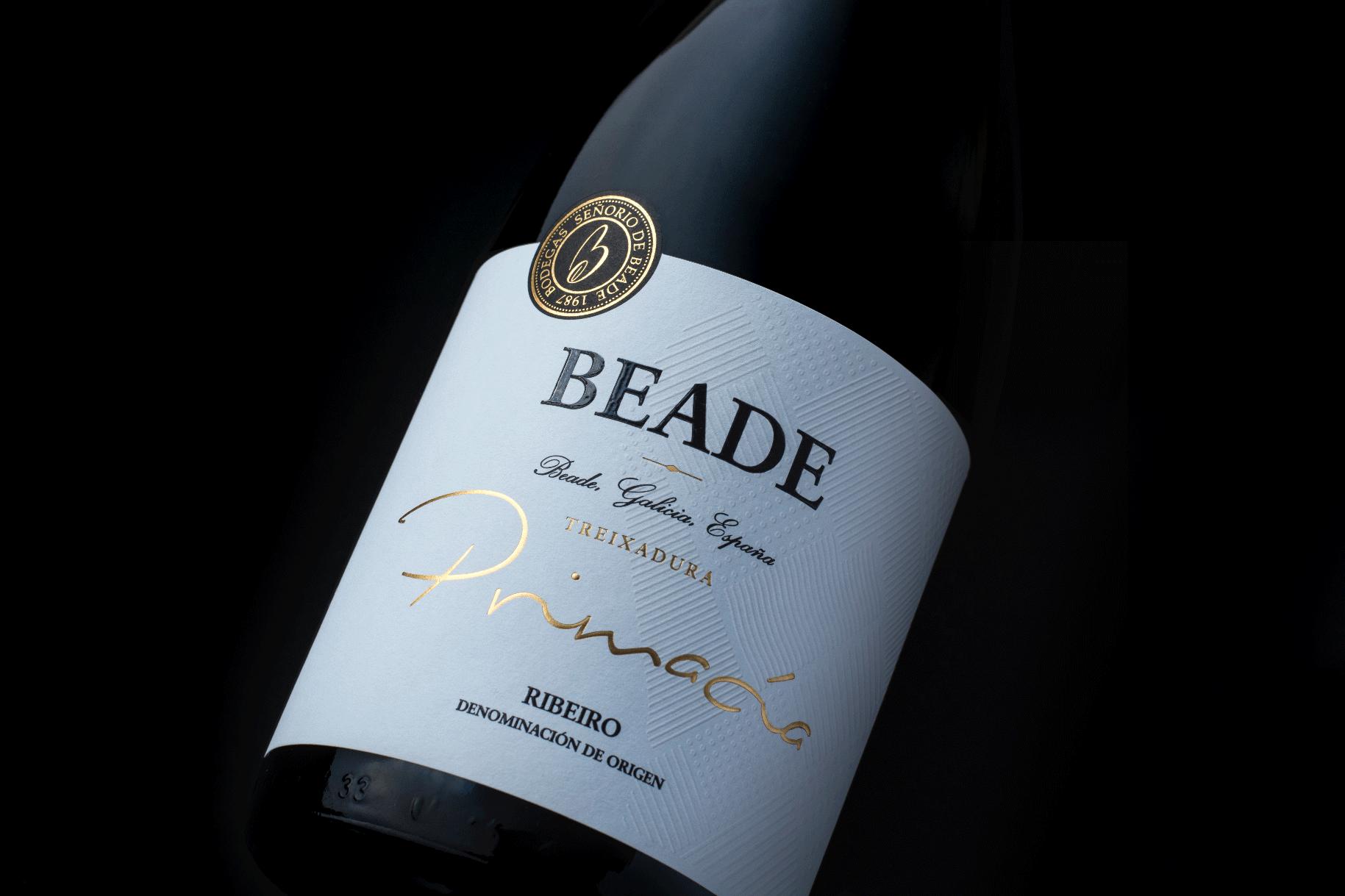 Diseño de etiqueta vino galicia